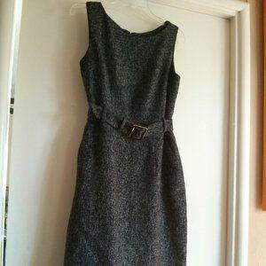 BR Tweed Wool Blend Sheath Dress